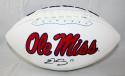 Evan Engram Autographed Ole Miss Rebels Logo Football JSA Witness Authenticated
