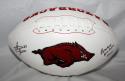 Steve Atwater Autographed Arkansas Razorbacks Logo Football JSAWitness Inscribed