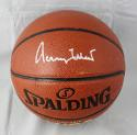 Jerry West Autographed NBA Spalding Basketball- JSA Witnessed Authentic
