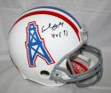 Earl Campbell Signed Houston Oilers F/S ProLine TB (Grey FM) Helmet With HOF- JSA W Auth