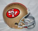 Jerry Rice Autographed F/S 49ers ProLine Helmet - JSA Witness Auth