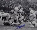 Paul Hornung Autographed Green Bay Packers 8x10 B&W Running Photo- JSA W Auth