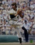 John Candelaria Autographed Pittsburgh Pirates 8x10 Pitching Photo- Jersey Source Auth