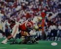 Cornelius Bennett Autographed 8x10 Alabama Sack vs Notre Dame Photo - JSA W Auth