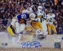 Jack Lambert HOF Autographed Steelers 8x10 Tackle vs Colts PF Photo- JSA W Auth