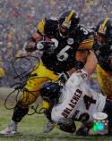 Jerome Bettis Autographed Pittsburgh Steelers 8x10 Running Over Urlacher PF Photo- JSA W Auth