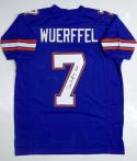 Danny Wuerffel  Autographed Blue College Style Jersey w/ Heisman- JSA Auth