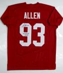 Jonathan Allen Autographed Maroon College Style Jersey w/ Natl Champ- SGC Auth