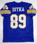 Mike Ditka Autographed Blue College Style Jersey- JSA W Authenticated