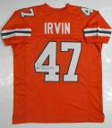 Michael Irvin Autographed Orange College Style Jersey- JSA Witnessed Authenticated