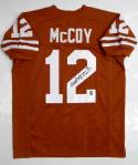 Colt McCoy Autographed Orange College Style Jersey *2- JSA W Authenticated