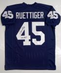 Rudy Ruettiger Autographed Never Quit Navy Blue College Style Jersey- JSA W Auth