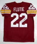 Doug Flutie Autographed Maroon College Style Jersey- JSA Witness Auth