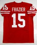 Tommie Frazier Autographed Red College Style Jersey - JSA Witness Authenticated