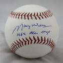 Maury Willis Autographed Rawlings OML Baseball W/ NL MVP- JSA W Auth