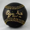 Ozzie Smith Autographed Rawlings OML Black Baseball W/ HOF 02  JSA Witness Auth
