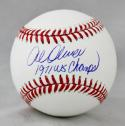 Al Oliver Autographed Rawlings OML Baseball w/ 1971 WS Champs -JerseySource Auth