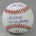 Al Oliver Autographed Rawlings OML Baseball w/ 3 Inscriptions -JerseySource Auth