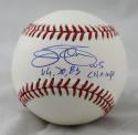 Jim Palmer 66,70,85 WS Champs Autographed Rawlings OML Baseball- JSA Witness Authenticated