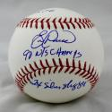Eric Davis Autographed Rawlings OML Baseball w/ 3 Inscriptions - JSA Witness Authenticated