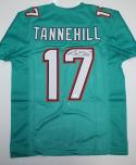 Ryan Tannehill Autographed Teal Pro Style Jersey *7- JSA Witnessed Authenticated