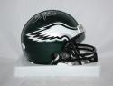 Brian Dawkins *Silver Philadelphia Eagles Mini Helmet - JSA W Auth