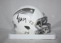LeGarrette Blount Autographed New England Patriots ICE Alternative Mini Helmet- JSA W Auth