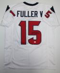 Will Fuller V Autographed White Pro Style Jersey- JSA Witnessed Authenticated