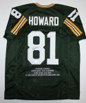 Desmond Howard Autographed Green Pro Style Stat Jersey- JSA Auth