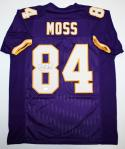 Randy Moss Autographed Purple Pro Style Jersey *8- JSA Witnessed Authenticated