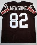 Ozzie Newsome Autographed Brown Pro Style Jersey With HOF and JSA Auth