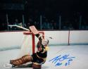 Gerry Cheevers Autographed 8x10 Boston Bruins Goalie Photo- JSA Witness Auth
