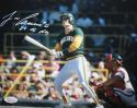 Jose Canseco Autographed *White 8x10 Swinging Photo W/ 86 NL ROY- JSA W Auth