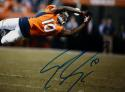 Emmanuel Sanders Autographed Broncos 8x10 Diving for Ball  Photo- JSA W Auth