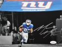 Mario Manningham Autographed 8x10 B&W Color Photo- JSA Authenticated