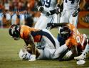 DeMarcus Ware Autographed Denver Broncos 8x10 Sacking Luck Photo- JSA W Auth