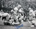 Paul Hornung Signed Green Bay Packers 8x10 B&W Run - JSA Witness Authenticated