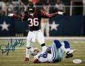 D.J. Swearinger Autographed 8x10 Standing over Cowboys - JSA W Authenticated