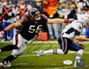 Brian Cushing Autographed 8x10 PF Against Patriots Photo- JSA Witness Auth