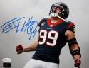 JJ Watt Autographed Houston Texans 8x10 Yell Horiz *blue Photo- JSA W, Watt Holo