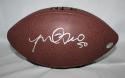 Manti Te'o Autographed Wilson NFL Football W/ 50- JSA Authenticated