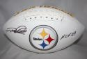 Rod Woodson Autographed Pittsburgh Steelers Logo Football W/ HOF- JSA W Auth