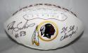 Ricky Sanders Autographed Washington Redskins Logo Football W/SB Champs- JSA W Auth