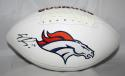 Emmanuel Sanders Autographed Denver Broncos Logo Football *Left- JSA W Authenticated