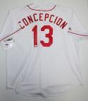 Dave Concepcion Autographed Cincinnati Reds Majestic White Jersey- JSA W Auth