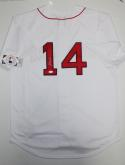 Jim Rice Autographed Red Sox Majestic White Jersey- JSA Witness Auth