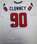 Jadeveon Clowney Autographed White Pro Style Jersey- JSA Witnessed Authenticated