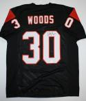 Ickey Woods Autographed Black Pro Style Jersey- JSA Witnessed Authenticated