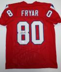 Irving Fryar Autographed Red Pro Style Jersey - SGC Auth