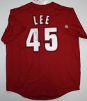 Carlos Lee Autographed Houston Astros Brick Red Majestic Jersey- JSA Auth